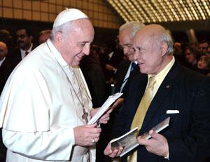 Pepe con Papa Francisco